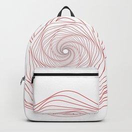 Red Minimal geometric mandala design Backpack