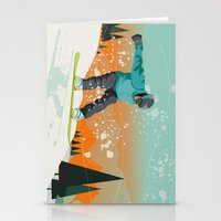 snowboard Stationery Cards featuring Snowboard Jump by Park City Posters