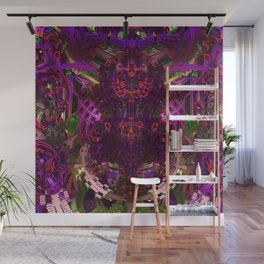 Exoskeleton Purple Wall Mural