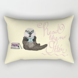 Martin the Otter: Read Like No Otter-by Hxlxynxchxle Rectangular Pillow