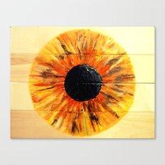 GOLDEN YELLOW IRIS Canvas Print