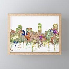 Denver, Colorado Skyline SG - Faded Glory Framed Mini Art Print