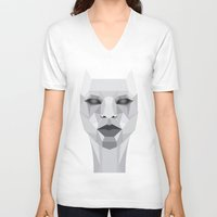 persona V-neck T-shirts featuring Persona Planes by Joyewole