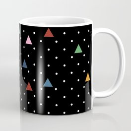 Pin Point Triangles Black Coffee Mug