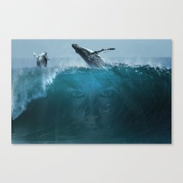 Where the sky meets the ocean Canvas Print