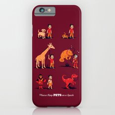 Please Keep Pets on a Leash Slim Case iPhone 6s