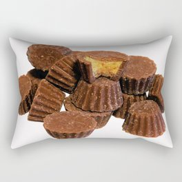 Mini Chocolate and Peanut Butter Treats Rectangular Pillow