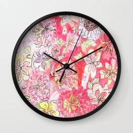 This Afternoon's Floral Wall Clock