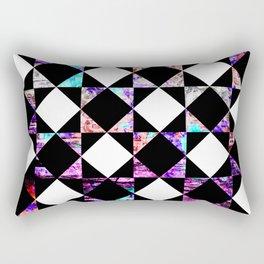 Purple and Blue Checkerboard Diamonds Rectangular Pillow