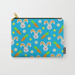 Easter Bunny and Carrots Pattern Carry-All Pouch