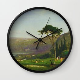 Classical Masterpiece 'Lake Albano, Italy' by George Inness Wall Clock