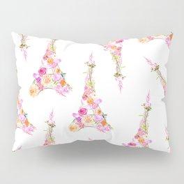 Flowers Floral Eiffel Tower Fashion Nature Stylish Minimalism Pillow Sham