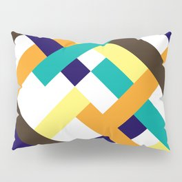 "Geometric Print ""Broken Weave"" Pillow Sham"