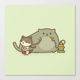 Kitty Cosplay Canvas Print