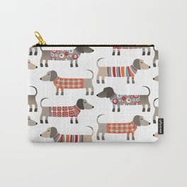Sausage Dogs in Sweaters Carry-All Pouch