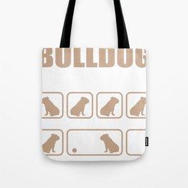 Stubborn Bulldog Tricks design Tote Bag