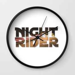 Night Rider Wall Clock