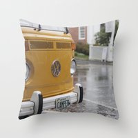 vw Throw Pillows featuring VW by Karen Herder