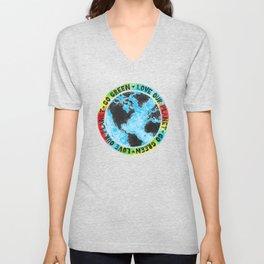 Love Our Planet Go Green Unisex V-Neck