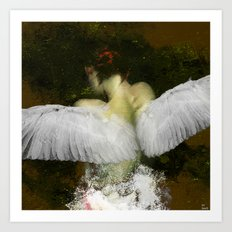 The angel of the hope Art Print