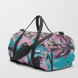 Flowers in Graffiti Duffle Bag