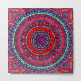 Hippie mandala 60 Metal Print