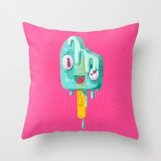 Melty Popsicle Throw Pillow
