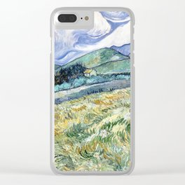 Landscape from Saint-Remy by Vincent van Gogh Clear iPhone Case