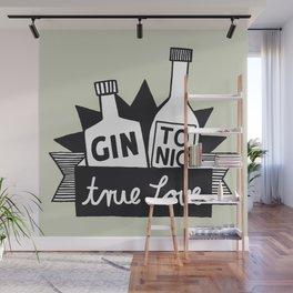 Gin Tonic True Love Wall Mural
