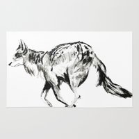 coyote Area & Throw Rugs featuring COYOTE by ShelbyTaylor