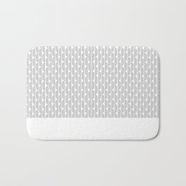 Grey Blocks Bath Mat