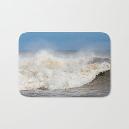 Stormy Ocean waves seascape Bath Mat