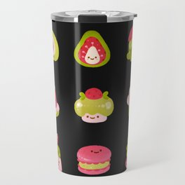 Strawberry Matcha - black Travel Mug