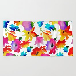 Dancing Floral Beach Towel