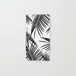 Black Palm Leaves Dream #1 #tropical #decor #art #society6 Hand & Bath Towel