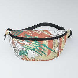 Abstract fern decorative print Fanny Pack