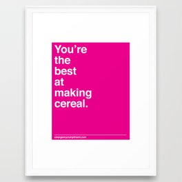 Making Cereal Framed Art Print