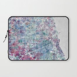 Chicago map Laptop Sleeve
