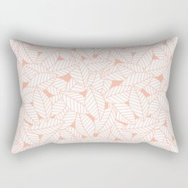 Leaves in Creamsicle Rectangular Pillow