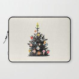 Retro Decorated Christmas Tree Laptop Sleeve