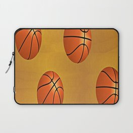 Basketballs on brown Laptop Sleeve