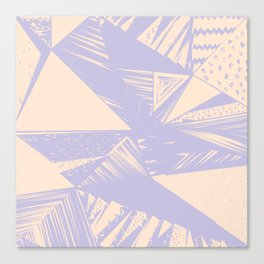 Modern lilac ivory violet geometrical shapes patterns Canvas Print