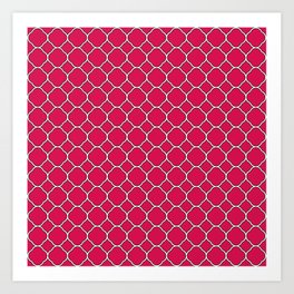 Ruby Red Clover Pattern Art Print
