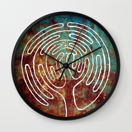 LIFE TREE. LABYRINTH Wall Clock