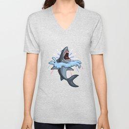 Shark Fireworks Unisex V-Neck