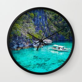 Amazing turquoise waters Wall Clock