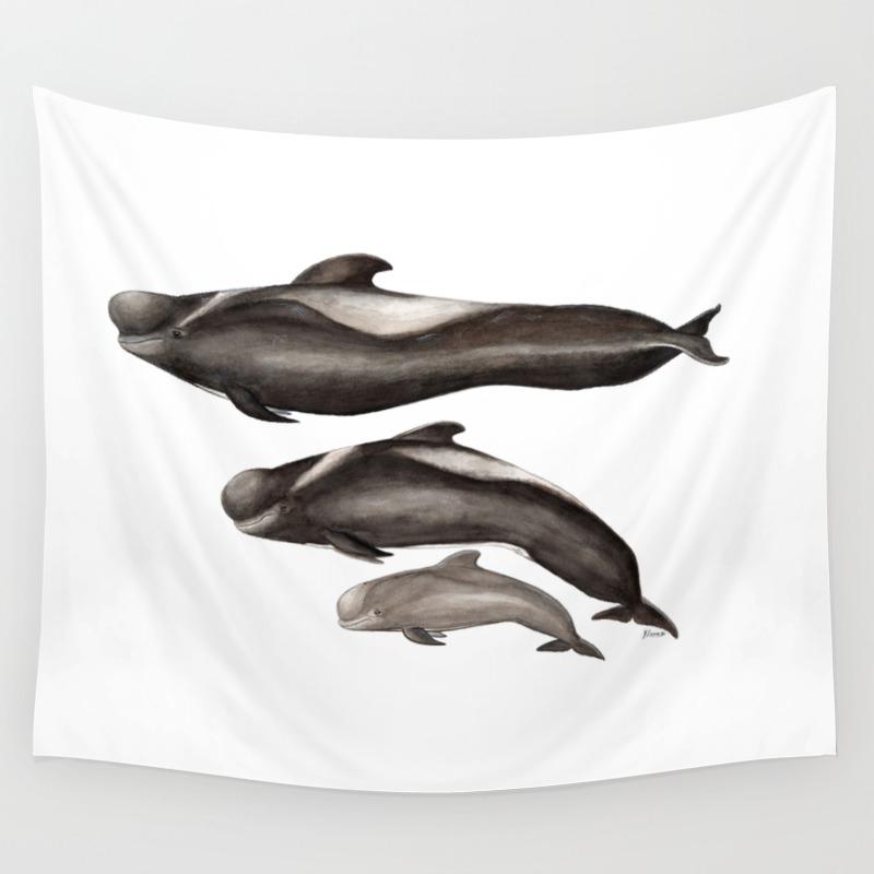 Short-finned Pilot Whale (globicephala Macrorhynch… Wall Tapestry by Chloeyzoard TPS3901850