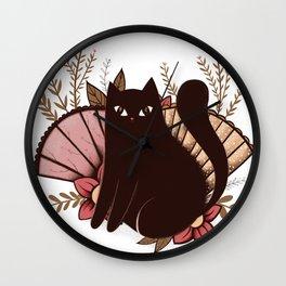 Japanese Kitty Wall Clock