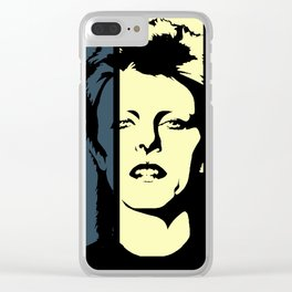 David Bowie Retro Homage Clear iPhone Case