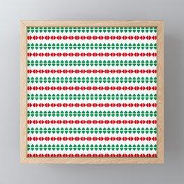 Christmas Pattern White Red Green 1 Framed Mini Art Print